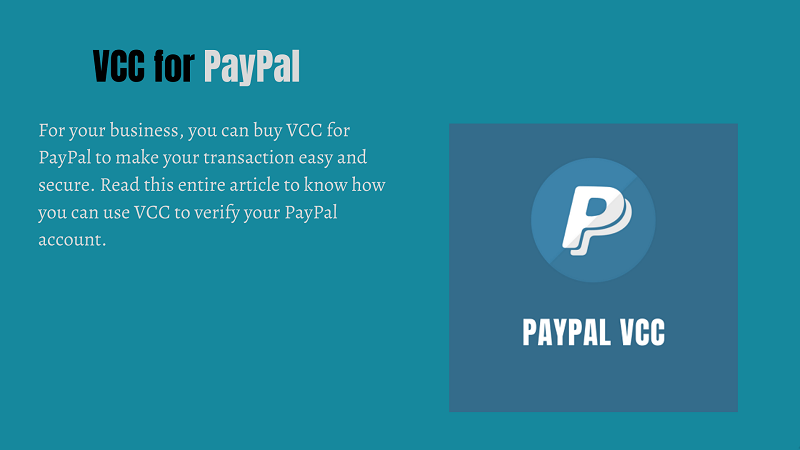 vcc for paypal
