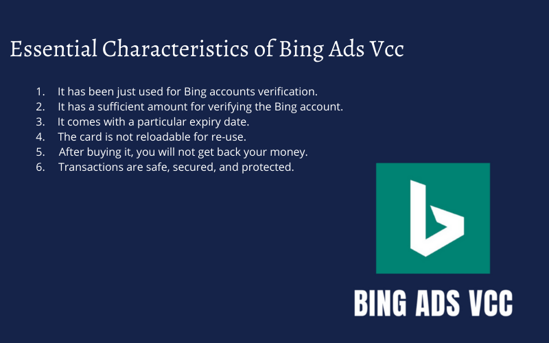 buy vcc for bing ads account