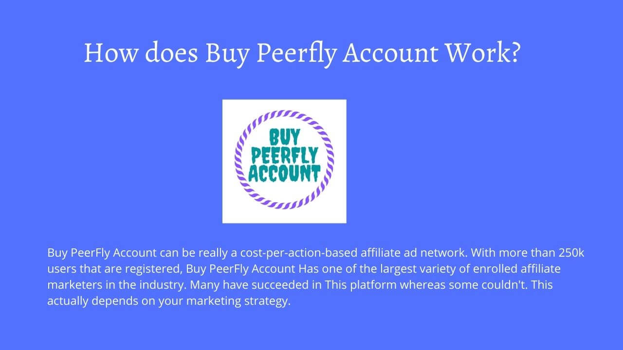 peerfly account for sale
