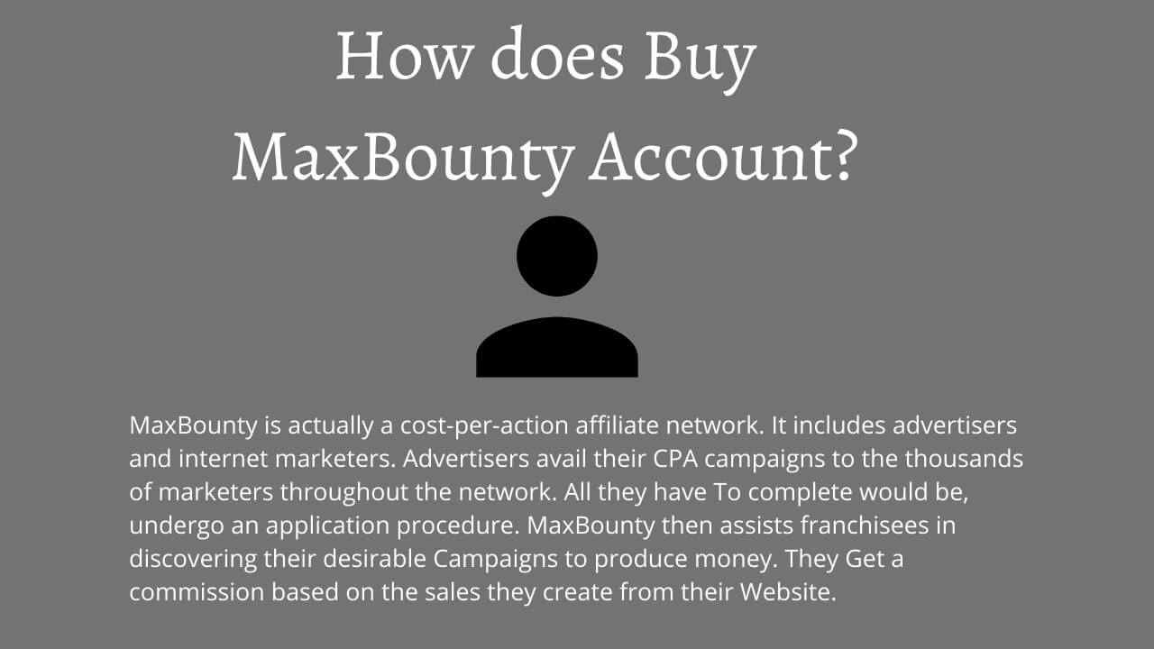 buy maxbounty approved account